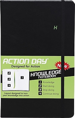 Action Day® Knowledge Notebook, Black