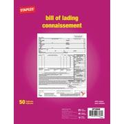 Staples® - Formulaires de connnaissements, triplicatas