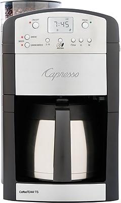 Capresso CoffeeTEAM TS 10-Cup Digital Coffee Maker, Black/Silver