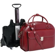 "McKleinUSA 94366 W Series GLEN ELLYN (Red), 15"" Leather Patented Detachable -Wheeled Ladies' Laptop Briefcase"