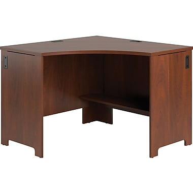 Bush® Envoy Corner Desk, Hansen Cherry