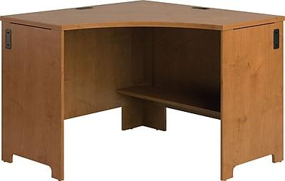Bush Business Furniture Envoy 42W x 42D Corner Desk, Natural Cherry (PR76320)