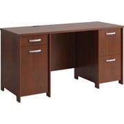 Bush Furniture Envoy 58W Office Desk with 2 Pedestals, Hansen Cherry (PR76560K)