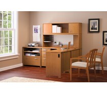 Bush® Office Envoy Collection, Natural Cherry