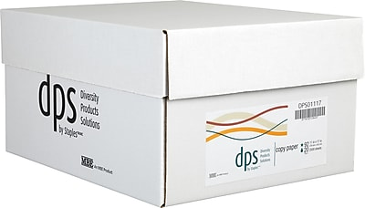 """Diversity Products Solutions by Staples 11"""" x 17"""" Multipurpose Paper, 20 lbs., 92 Brightness, 2500/Carton (DPS01117)"""