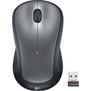 Logitech M310 Laser Wireless Ambidextrous Mouse, Black/Silver (910-001675)