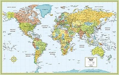 Mappemondes, cartes et drapeaux