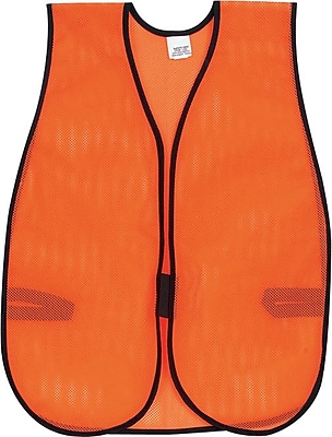 Crews®, Inc. Orange Safety Vest, Polyester Mesh, One Size
