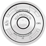 Eco-Products Recycled Content Clear Plastic Cold Drink Cup Lids , Clear , 1000/Ct