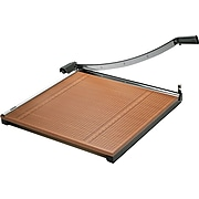 """X-ACTO Commercial Grade 24"""" Guillotine Trimmer, Black/Brown (26624)"""