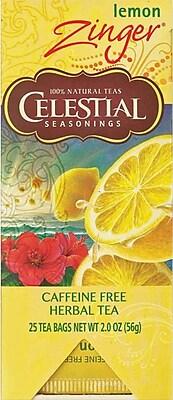 Celestial Seasonings® Lemon Zinger® Herbal Tea, 25/Bx