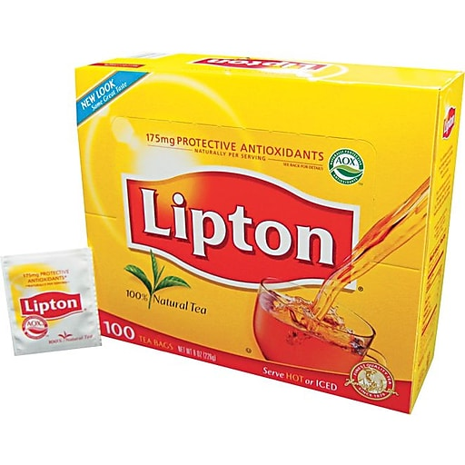 Lipton Hot Tea Bags Orange Pekoe Black 100 Count Tjl00291