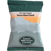 Green Mountain Coffee® Organic House Blend Decaf Coffee Packs, 2.5 oz., 50/Ct