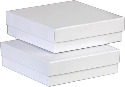 """""Jewlery Boxes, 3 1/2"""""""" x 3 1/2"""""""" x 1 1/2"""""""", White"""""" 965244"