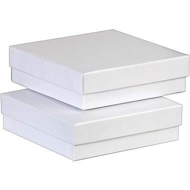 Jewellery Boxes, White, 3-1/2