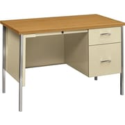 HON 34000 Series Small Office Desk 1 Box File Drawer 45 4W Harvest Laminate Putty Finish NEXT2018 NEXT2Day