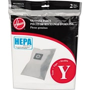 Hoover® Vacuum Replacement Bags, TYPE ''Y'' Disposable HEPA Bags for Hoover® Windtunnel Vacuums, 2/Pack (AH10040)