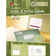 Maco Recycled Laser/Inkjet Name Badge Labels, Self-Adhesive, 2 1/3 x 3 3/8, 400/Bx