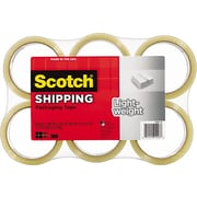 "Scotch Lightweight Shipping Packing Tape, 1.88"" x 54.6 yds, Clear, 6/Pack"