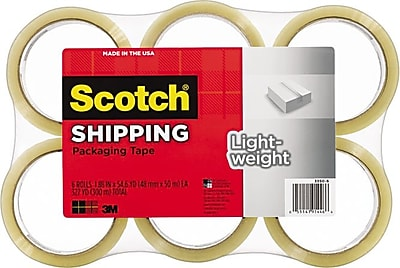 Scotch Lightweight Shipping Packing Tape, 1.88