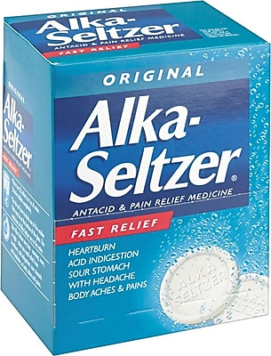 Alka-Seltzer® Antacid & Pain Reliever Refill, 2/Packet, 50/Packets