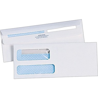 Quality park 10 double window redi seal security tint for 10 window envelope