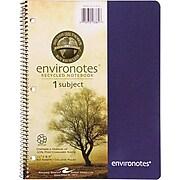 "Roaring Spring Environotes Spiral Wirebound Sugarcane Notebook; 11"" x 8 1/2"""