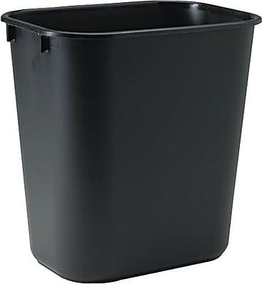 Rubbermaid Deskside Wastebasket, 3 1/2 Gallons, Black, 12.1