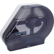 San Jamar Quantum Roll Dispenser w/Stub Roll Compartment, 22 x 5 7/8 x 16 1/2, Black Pearl