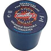 Keurig® K-Cup® Timothy's® Nicaraguan Fair Trade Organic Coffee, Regular, 24/Pack