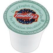 Keurig® K-Cup® Timothy's®  English Breakfast Decaf Tea, Decaffeinated, 24/Pack