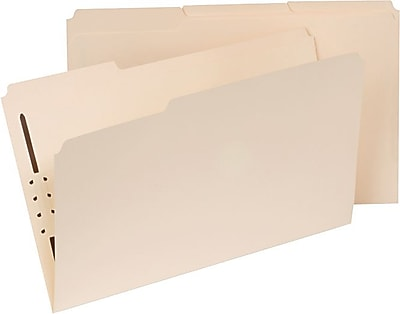 "Universal Top Tab File Folders, 1 Part, Manila, Holds 8 1/2""H x 14""W, 50/Bx"