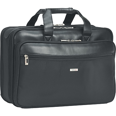 Solo Classic Smart Strap Black Polyester Laptop Briefcase (SGB300-4)