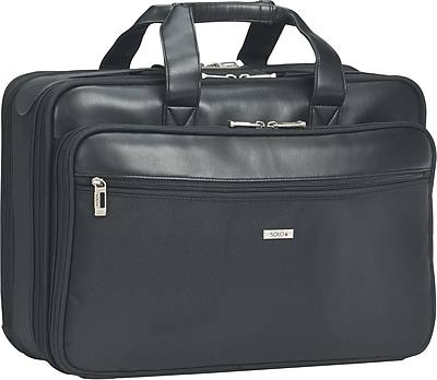 Solo Classic Smart Strap Black Polyester Laptop Briefcase (SGB300-4)