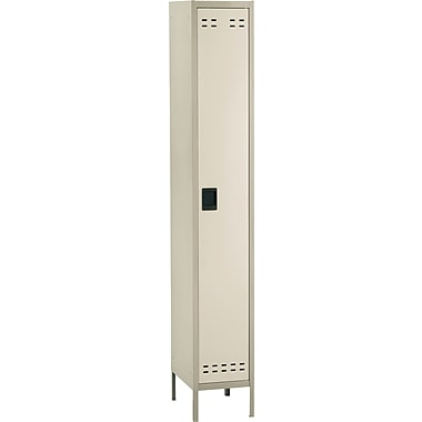 Safco® Steel Locker, Single Tier, 1-Door, Tan