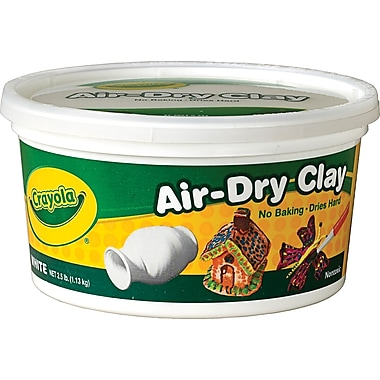 Crayola® Air Dry Clay, White, 2.5 lbs