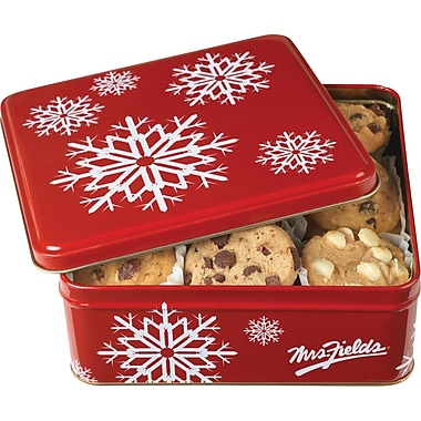 Mrs. Fields Snowflake Tin with Cookies