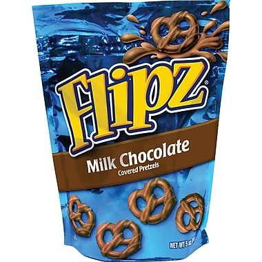 Flipz® Milk Chocolate Covered Pretzels, 5 oz. Bags, 6 Bags/Box