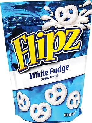 Flipz® White Fudge Covered Pretzels, 5 oz. Bags, 6 Bags/Box
