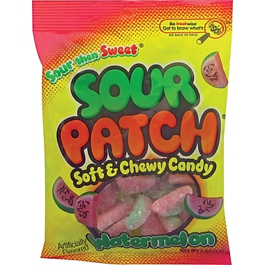 Sour Patch Kids® Watermelon Candy Peg Bag, 5 oz. Bags, 12 Bags/Box