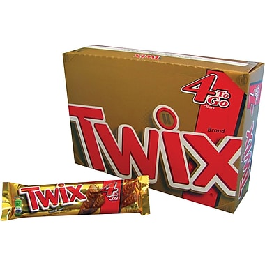 Twix® Caramel Cookie Candy Bars King Size, 3.02 oz. Bars, 24 Packs/Box