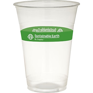 Sustainable Earth By Staples® Compostable Cold Cups, 16 oz., 300/Case