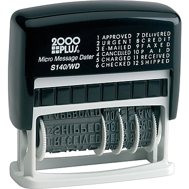 2000 PLUS® Self-Inking Micro Message Dater and Phrase Stamp (S140/WD)
