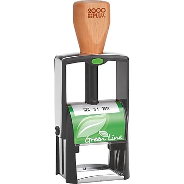 2000PLUS® Greenline Self-inking Dater, Black Ink