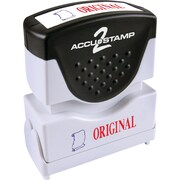 "Accu-Stamp2® Two-Color Pre-Inked Shutter Message Stamp, ORIGINAL, 1/2"" x 1-5/8"" Impression, Red/Blue Ink (035540)"