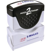 "Accu-Stamp® Two-Color Shutter Stamps, ""E-MAILED"" with Microban Protection, Red/Blue Ink"