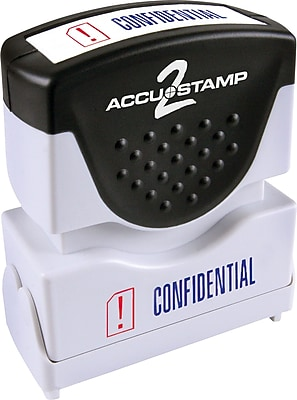 Accu-Stamp2® Two-Color Pre-Inked Shutter Message Stamp, CONFIDENTIAL, 1/2