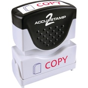 "Accu-Stamp2® Two-Color Pre-Inked Shutter Message Stamp, COPY, 1/2"" x 1-5/8"" Impression, Red/Blue Ink (035532)"