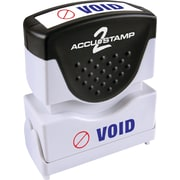 "Accu-Stamp® Two-Color Shutter Stamps, ""VOID"" with Microban Protection, Red/Blue Ink"