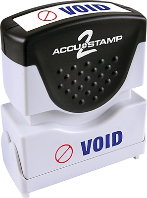 Accu-Stamp2® Two-Color Pre-Inked Shutter Message Stamp, VOID, 1/2